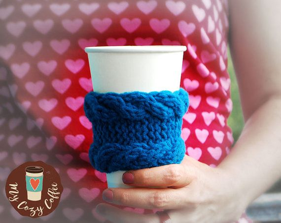 Coffee cozy Coffee sleeve Coffee cup cozy Knitted cup cozy Tea cozy Gift under…