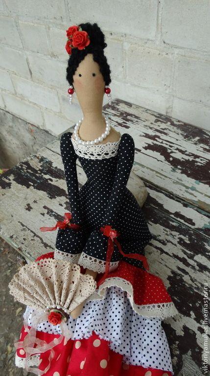Купить или заказать кукла тильда ручной работы ФЛАМЕНКО в интернет-магазине на Ярмарке Мастеров. Куколка сделана на заказ для девочки , увлекающейся фламенко. Воспоминание про отпуск в Испании, подарок подруге…
