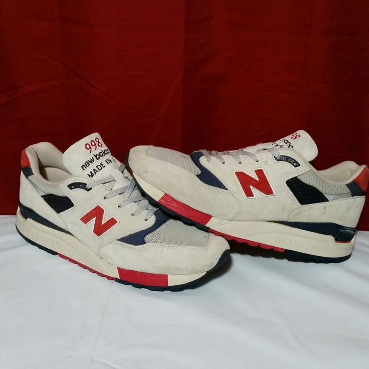 New Balance M998JS4 J.Crew X Independence Day 11.5 Suede Running Shoes USA Made  #NewBalance #Athletic