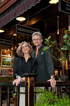 Wink & Craig--artists sell their work, wine, music...all right here. Always love stopping in and visiting with Priscilla!