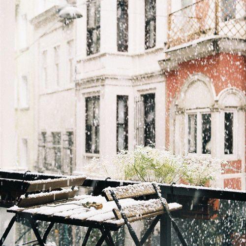 Snowy in Istanbul