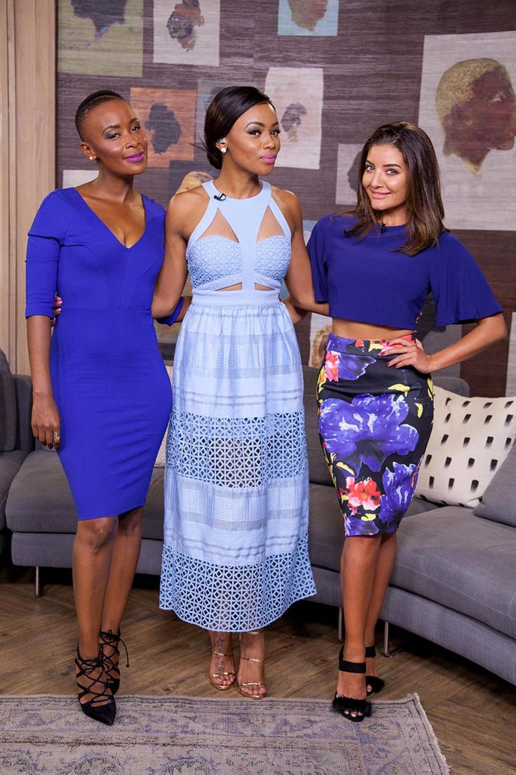 Afternoon Express, Episode 217, 12 April 2016 - Check out what the beauties in blue Bonnie Mbuli, Bonang Matheba and Jeannie D are wearing