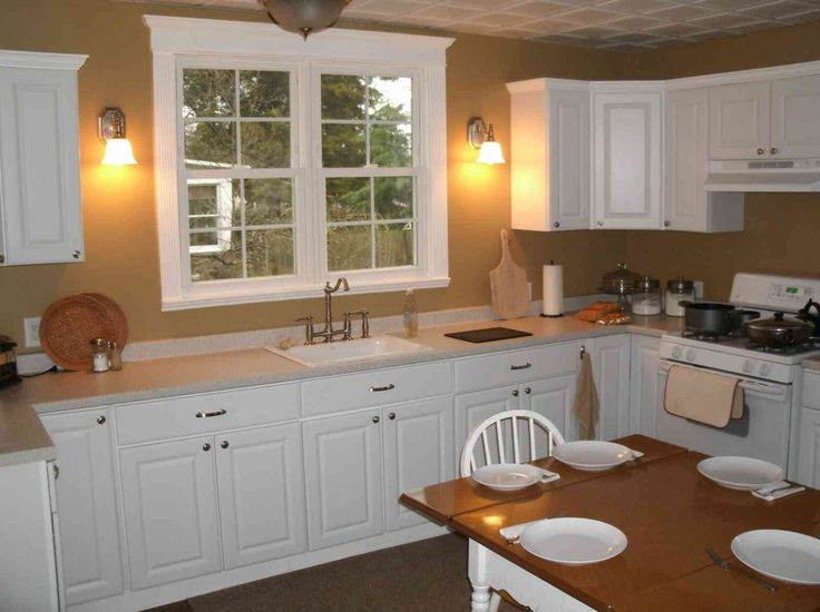 Kitchen:Modern Small Kitchen Remodel With White Kitchen Cabinets Also With  Kitchen Faucet Sink Also Stove Also Dining Set With Modern Dining Table And  ...