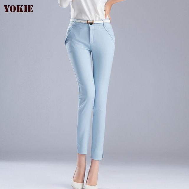 Big Discount $18.20, Buy high quality Trousers Women 2016 summer Casual OL Formal Harem Pants Women elegant Office straight work wear long Pant plus size
