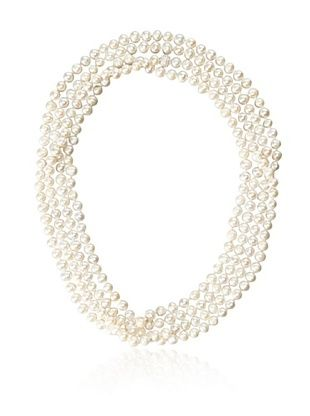 67% OFF Jardin Freshwater Pearl & CZ Ball Wrap Necklace