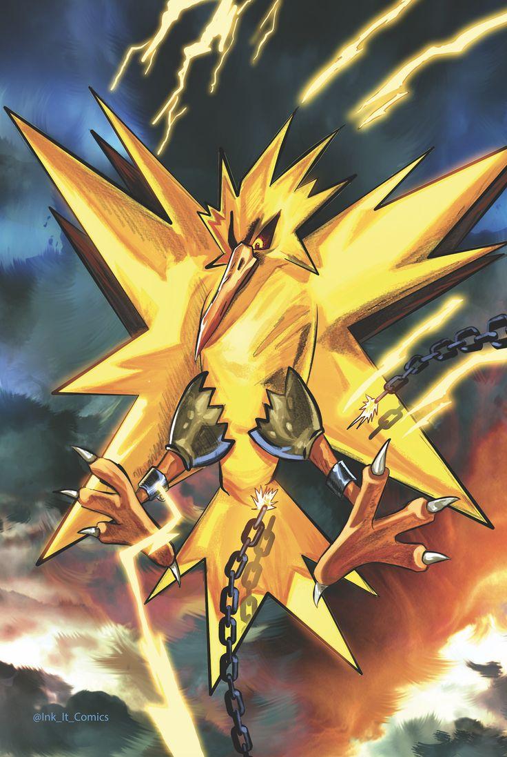25 best ideas about pokemon moltres on pinterest real pokemon games - Pokemon Zapdos Colored Colorworld By Trevor Scott Ink_it_comics Pokemon