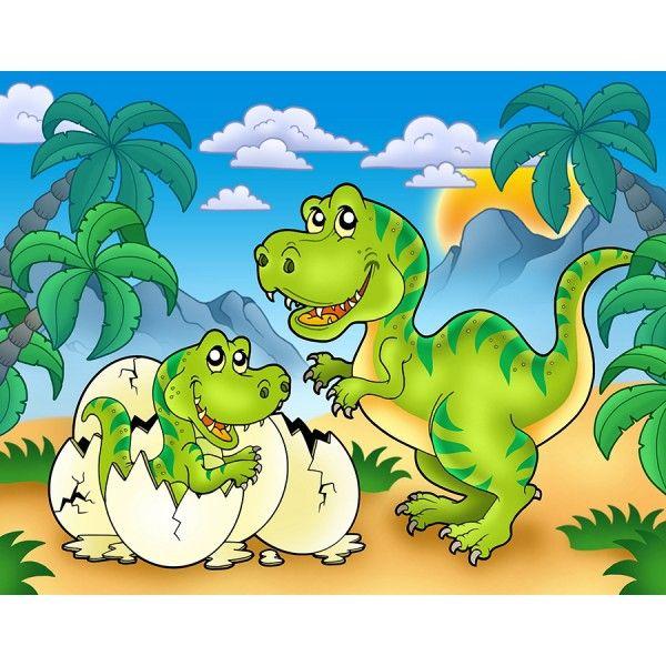 Papier peint intissé poster géant enfant dinosaure