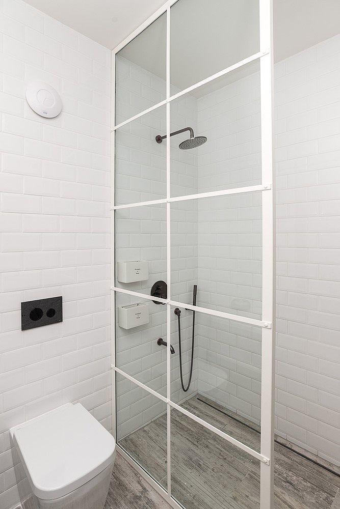 Love the shower wall looks like a vintage window