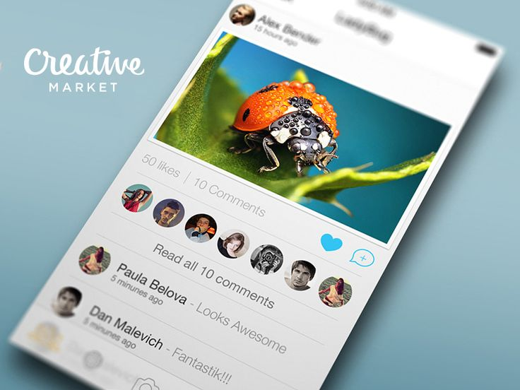Concept Social App Lists - feed and members #social #timeline #light