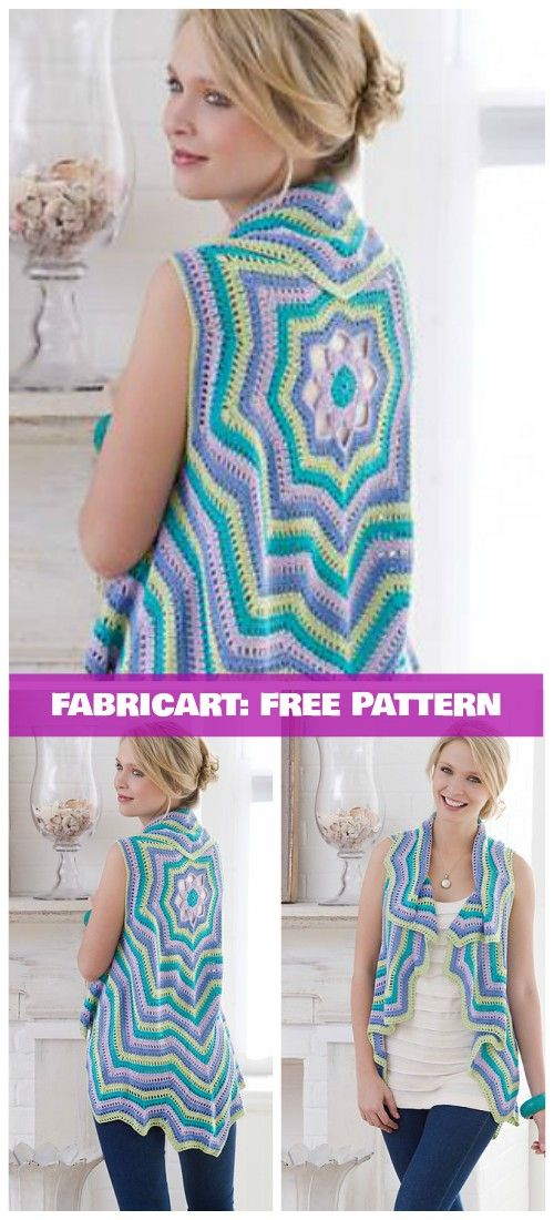 Crochet Circle Ripple Vest Free Patterns - Crochet Rippling Vest Free Pattern