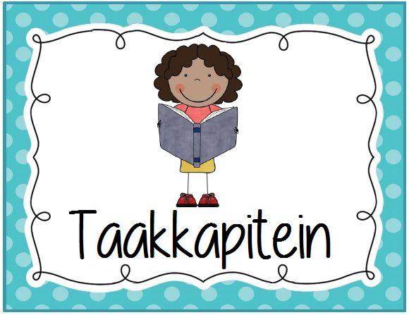 Coöperatieve klastaken kaartje: taakkapitein. Polka dot © Sarah Verhoeven