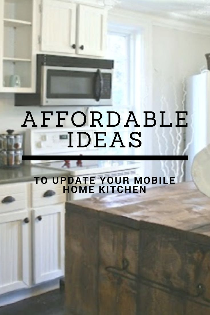 7 Affordable Ideas To Update Mobile Home Kitchen Cabinets Home