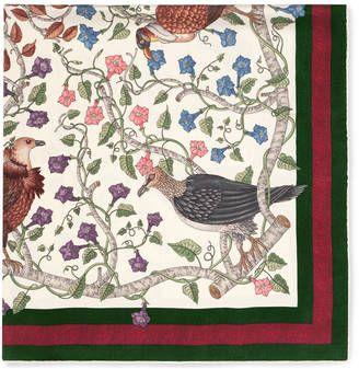 Shop Now - >  https://api.shopstyle.com/action/apiVisitRetailer?id=614982803&pid=uid6996-25233114-59 Rapaci print silk scarf  ...
