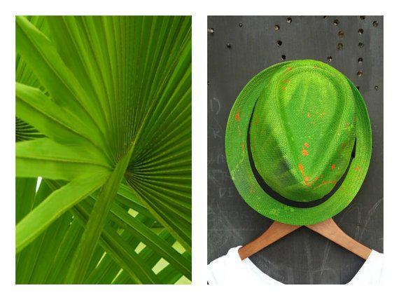 The Palms  Tropical Unisex braid fedora by FeatherheadOnEtsy, $65.00