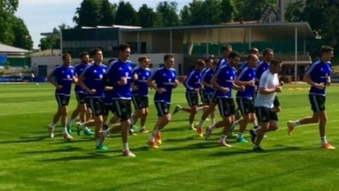 Euro 2016: Kyle Lafferty back on training pitch with Northern Ireland