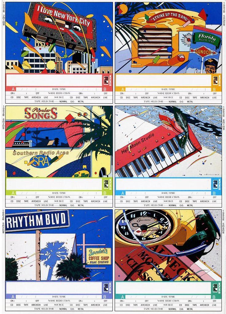 '80s Cassette label