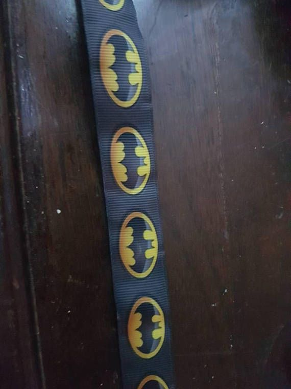 Check out this item in my Etsy shop https://www.etsy.com/ca/listing/595551855/batman-inspired-grosgrain-ribbon