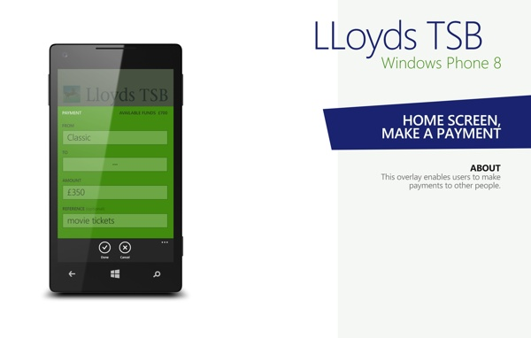 Lloyds Tsb Windows Phone 8 Concept Design By Mantvydas Baranauskas