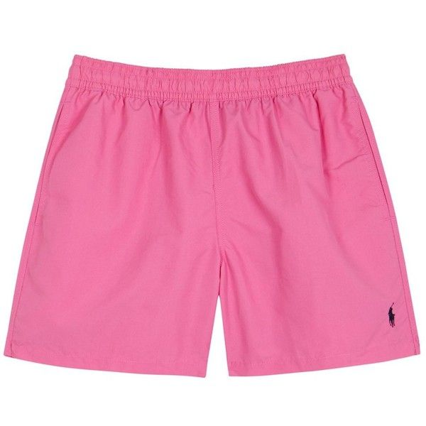 Polo Ralph Lauren Hawaiian Pink Swim Shorts - Size L ($73) ❤ liked on Polyvore featuring men's fashion, men's clothing, men's swimwear, polo ralph lauren mens swimwear, polo ralph lauren mens clothing and pink mens clothing