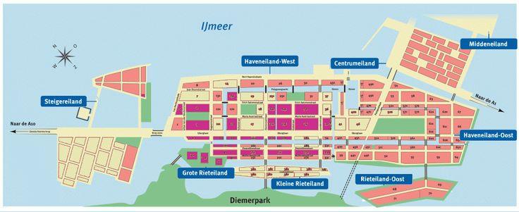 Situatie IJburg met blok 54 in Haveneiland-Oost