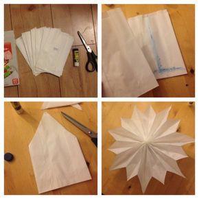 DIY Stern aus Butterbrottüten