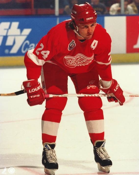 Bob Probert--I will never forget meeting this young man. He fed my youngest daughter her first chocolate chip cookie while waiting in line for a table at Bavarian Inn in Frankenmuth, Michigan. His gentlemanly behavior (I know!) toward a 9-month old made me a Red Wings fan for life!