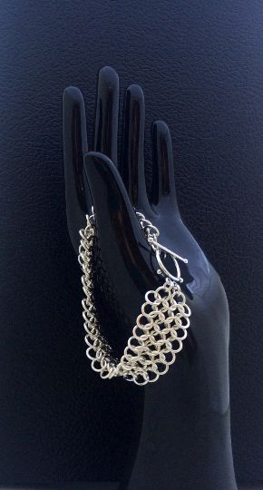Introducing the Silver Lace Chainmail Bracelet. http://etsy.me/21k8SgD