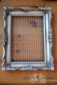Super simple DIY Earring Holder Frame- I bet I could use this to make silk flower arrangements, too.