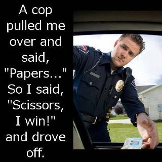 Rock, paper, scissors: Like A Boss, Remember This, Rocks Paper Scissors, I Win, Funny Pics, Real Life, The Police, Funny Stuff, So Funny