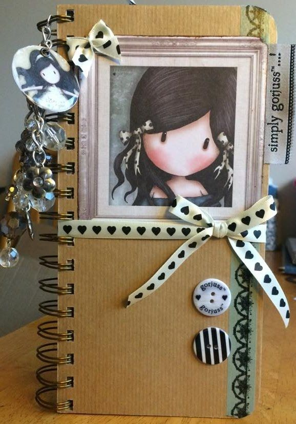 "Original pinner sez: Video of my Handmade Gorjuss Girl Journal ""Simply Gorjuss"""