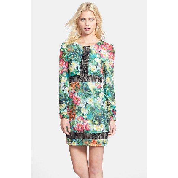 Elliatt 'Wanderer' Print Crepe Sheath Dress