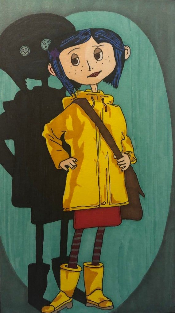 Coraline 2009 Illustration In 2020 Coraline Art Cute Canvas Paintings Coraline Aesthetic