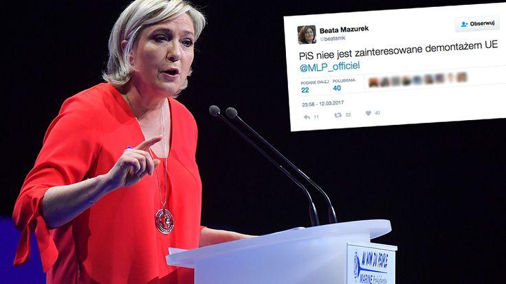 """Przegląd prasy. Le Pen proponuje Kaczyńskiemu """"demontaż Unii"""".Wspólne interesy Le Pen i Kaczyńskiego Le Pen w rozmowie z """"Rzeczpospolitą"""" powiedziała, że chce podjąć współpracę z Jarosławem Kaczyńskim, by wspólnymi siłami zdementować Unię Europejską. Stwierdziła, że są dwie główne sprawy, w których mogłaby osiągnąć porozumienie z Polską. Pierwsza z nich to spór między naszym krajem a Unią o Trybunał Konstytucyjny. - Krytyki, która formułuje się wobec Polski, trudno nie uznać za............"""
