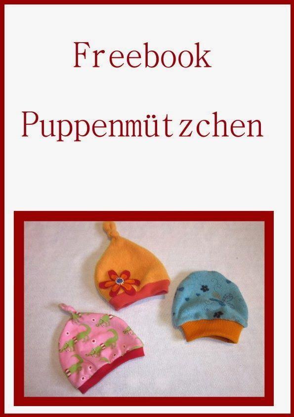 Freebooks - Puppenmütze - Puppenpuksack - Latzhose - Nikolausstiefel - alles zum Nähen
