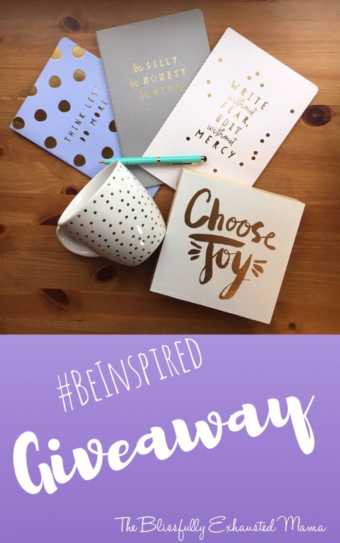 BEM Blog Be Inspired Giveaway – The Blissfully Exhausted Mama