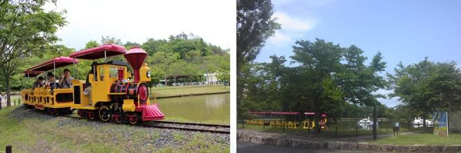Okayama 岡山(おかやま) 岡山農業公園 ドイツの森 SL機関車  池のまわりとぐるっと1周! ※回数券利用可能 桜の咲いたボート池の周りをのんびり1周はいかがですか  ■ 料金 1周(約320m) 300円 チケットにてご利用下さい。(券売機有り)