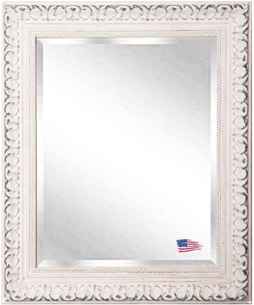 French Victorian White Wall Mirror - Wall Mirrors at Hayneedle
