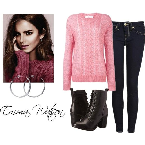 Emma Watson by amylightwood on Polyvore featuring Golden Goose, True Religion, Steve Madden, Coco's Liberty and Emma Watson