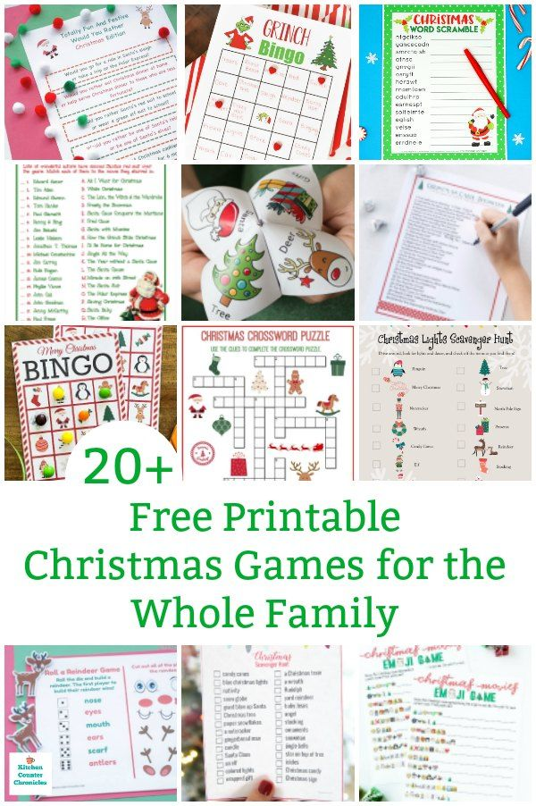 20 Free Printable Christmas Games For The Whole Family
