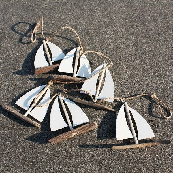 Driftwood Sailboat Garland