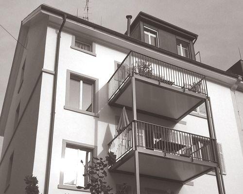 Mehrfamilienhaus Kernstrasse Zürich - Balkonanlage