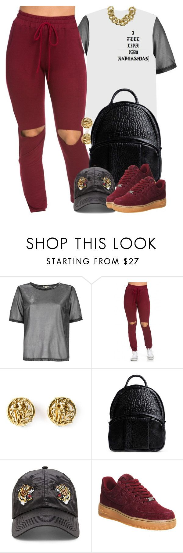 """""""unknown"""" by nasiaswaggedout ❤ liked on Polyvore featuring River Island, Moschino, Alexander Wang, 21 Men, NIKE and ASOS"""
