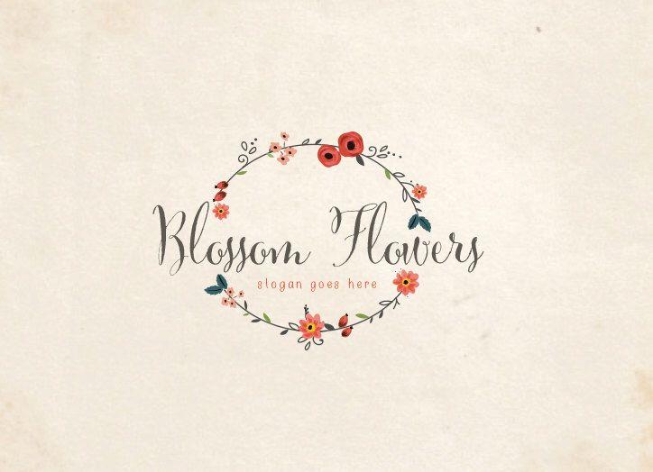 Diseño de logotipos florales personalizados / flor de flores de MaggieArtStudio en Etsy https://www.etsy.com/mx/listing/213816255/diseno-de-logotipos-florales