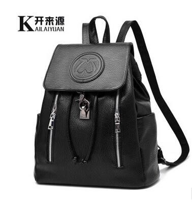 100% Genuine leather Women backpack 2016 new backpack embossed fashionista new spring and summer fashion leisure Korean women
