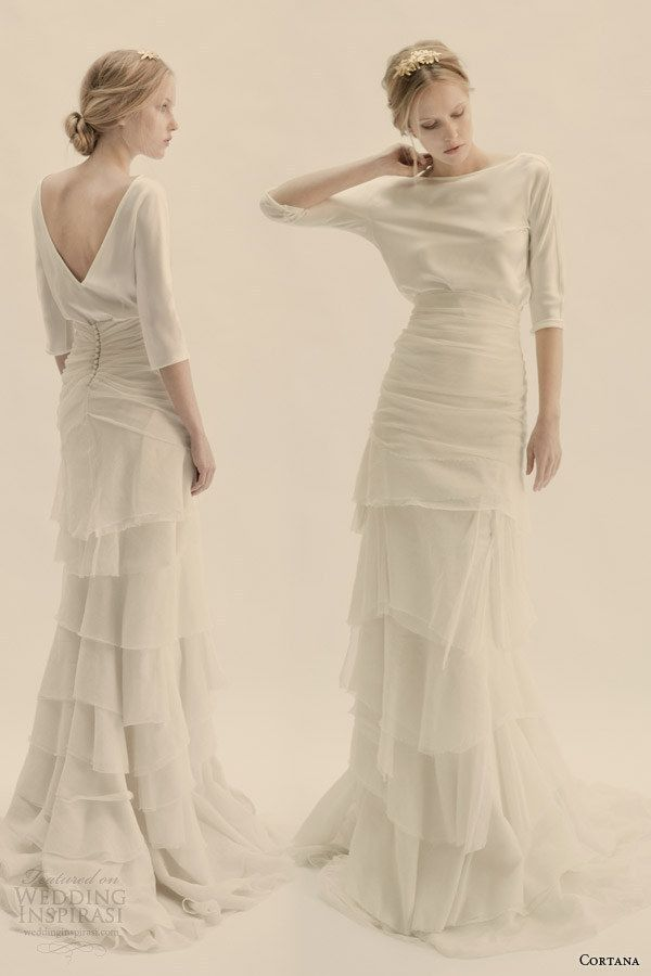 This Ethereally Draped Set | 36 Ultra-Glamorous Two-Piece Wedding Dresses