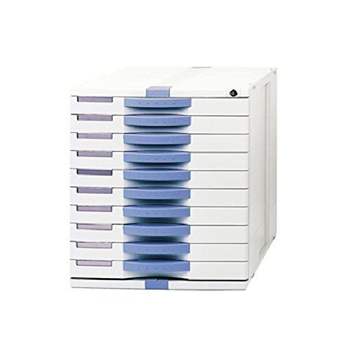 Sysmax Max Mk100 Vertical File Cabinet 10 Drawer Index Key Lock Function Flat Drawer Light Gray Color Filing Cabinet Drawer Lights Key Lock