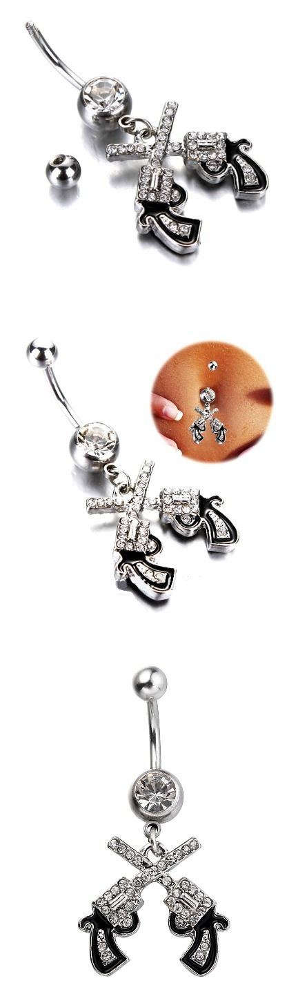 Western Cowgirl Dual Revolver Belly Button! Click The Image To Buy It Now or Tag Someone You Want To Buy This For.  #CountryGirl