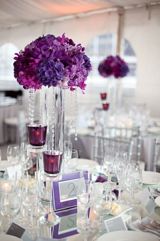 Simple Stunning Purple Wedding theme