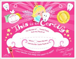 Free Printable Tooth Fairy Certificate: Pink #Hallmark #HallmarkIdeas