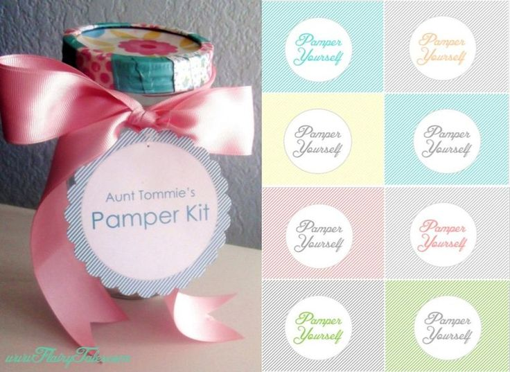 DIY pamper yourself jar with FREE printable tags! The lid ...